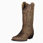 Ariat 10002204 Men's Heritage Western R Toe Distressed Brown