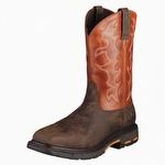 Ariat 10006961 Men's Workhog Wide Square Toe Steel Toe Boot Dark Earth