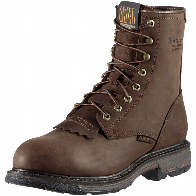 ea32ea37db8 Ariat 10011943 Men's Workhog 8-inch H2O Composite Toe Lace-Up Boot