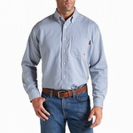 Ariat 10012250 Men's Flame Resistant Stripe Work Shirt Bold Blue