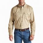 Ariat 10012251 Men's Flame Resistant Solid Work Shirt Khaki