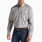 Ariat 10012253 Men's Flame Resistant Solid Work Shirt Silver Fox