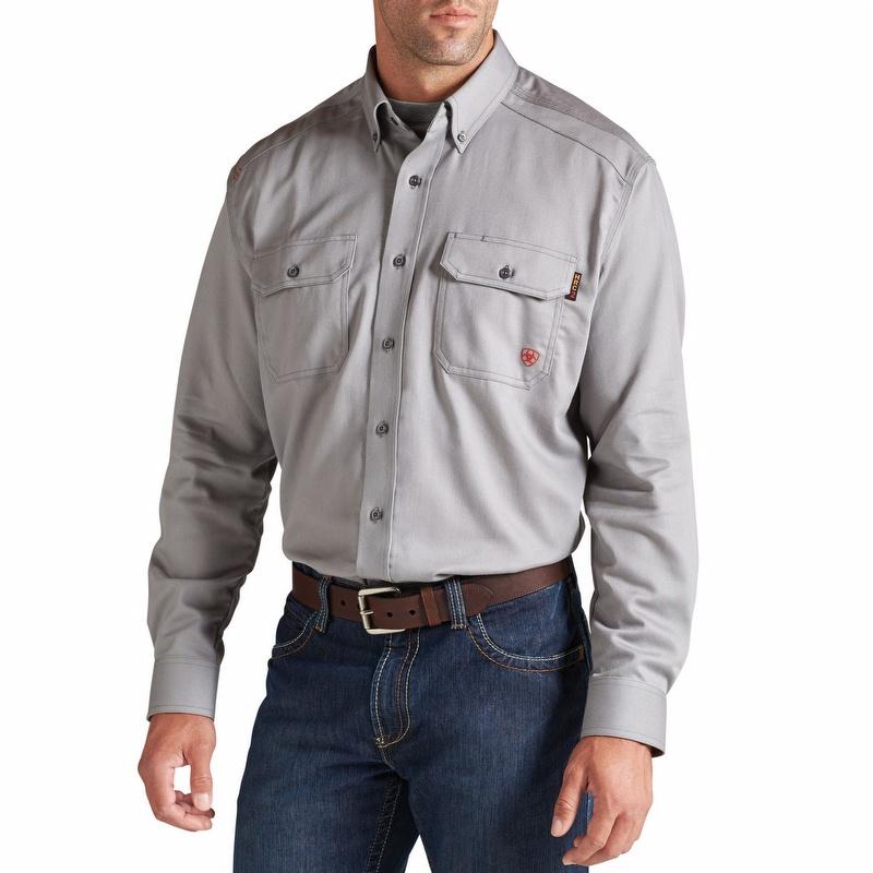 Fire resistant work shirt ariat men 39 s shirt gearcor for Flame resistant work shirts