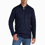 Ariat 10012259 Men's Flame Resistant Work 1/4 Zip Pullover Navy