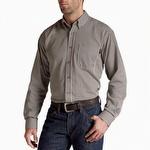 Ariat 10013511 Men's Flame Resistant Stripe Work Shirt Coffee Bean