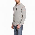 Ariat 10014377 Men's FR Work Tek Baselayer 1/4 Zip Pullover Light Gray