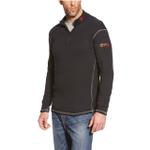 Ariat 10014378 Men's FR Work Tek Baselayer 1/4 Zip Pullover Black