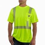 Carhartt Men's Force High Vis Short Sleeve Class 2 T-Shirt Yellow