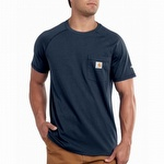 Carhartt 100410 Mens Force Cotton Short Sleeve T Shirt Navy