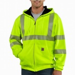 Carhartt 100504 Hi-Vis Zip-Front Class 3 Thermal-Lined Sweatshirt Lime
