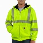 Carhartt 100504 Hi-Vis Zip-Front Class 3 Thermal-Lined Sweatshirt Lime