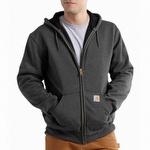 Carhartt 100632 Rain Defender Thermal Hooded Sweatshirt Carbon Heather