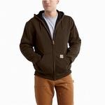 Carhartt 100632 Rain Defender Thermal Hooded Sweatshirt Dark Brown
