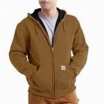 Carhartt 100632 Rain Defender Thermal Hooded Sweatshirt Carhartt Brown