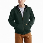 Carhartt 100632 Rain Defender Thermal Hooded Sweatshirt Canopy Green