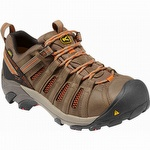 Keen 1007970 Flint Low Steel Toe Work Shoes Brown