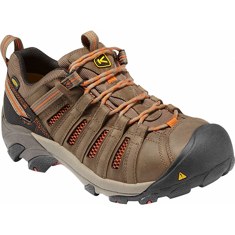 super quality distinctive style run shoes Keen 1007970 Flint Low Steel Toe Work Shoes Brown