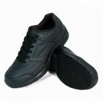 Genuine Grip 1010 Men's Slip-Resistant Soft Toe Lace Up Shoe Black