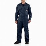 Carhartt 101017 Flame-Resistant Traditional Twill Coverall Dark Navy