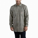 Carhartt 101028 Flame-Resistant Classic Plaid Shirt Gray