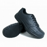 Genuine Grip 1011 Men's Slip-Resistant Steel Toe EH Lace Up Shoe Black