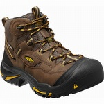 Keen 1011242 Braddock Mid Waterproof Steel Toe Work Boot Brown