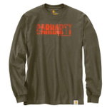 Carhartt 103356301 Workwear Hunting Graphic Long Sleeve Army Green