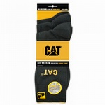 Caterpillar CAT 1119513 All Season Steel Toe Work Socks Black 3-Pack