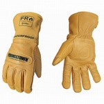 Youngstown FR Waterproof Leather Utility Gloves Lined w Kevlar 6 Pack