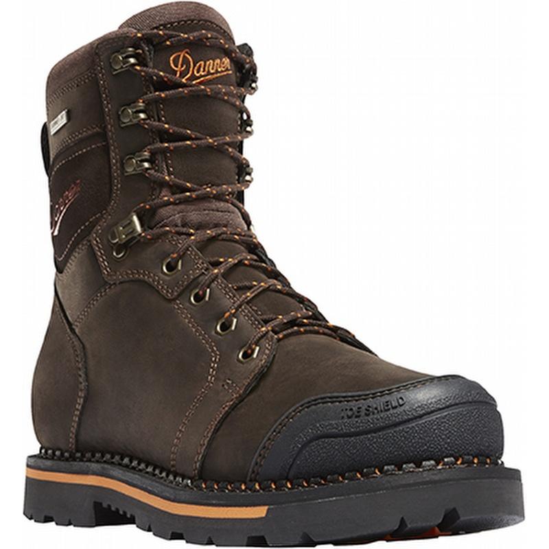 8 inch Non Metallic Toe Work Boot Brown