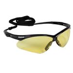 Jackson Safety Nemesis Safety Glasses Black Frame Amber Lens