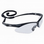 Jackson Safety Nemesis Safety Glasses Black Frame Clear Anti Fog lens