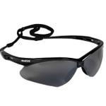 Jackson Safety Nemesis Safety Glasses Black Frame Smoke Mirror Lens