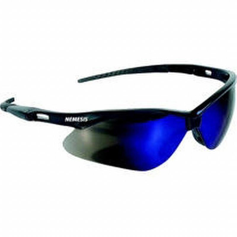 Jackson Safety Nemesis Safety Glasses Black Frame Blue