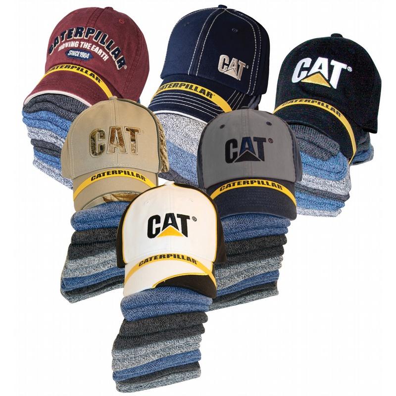 0e9fc0c6c8b Caterpillar CAT 1490005 Cap and 6 Pack Sock Bundle - 1490005