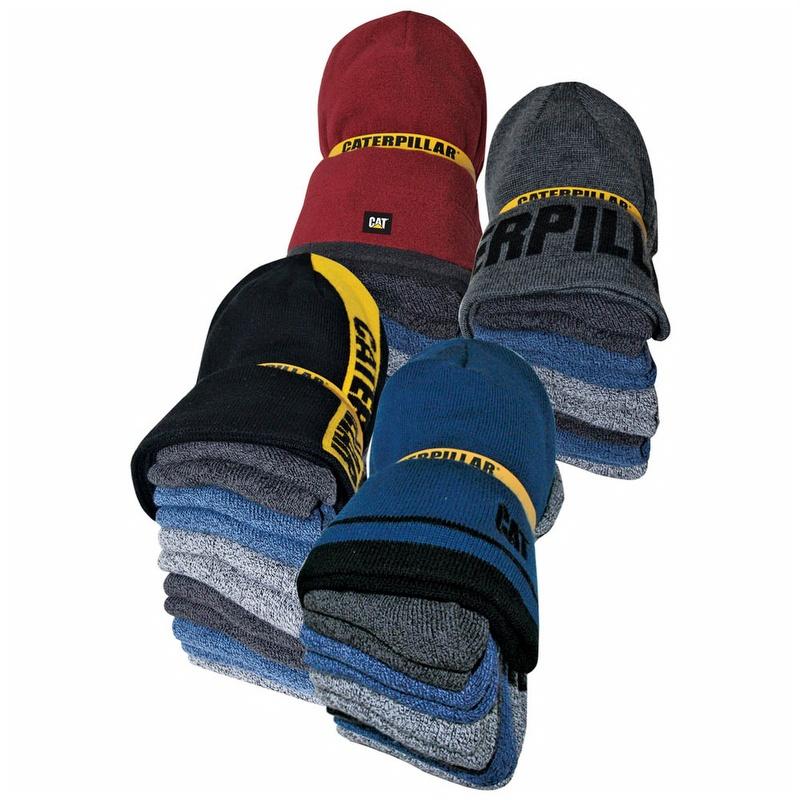 242cd1d430b Caterpillar CAT 1490006 Knit Cap and 6 Pack Sock Bundle - 1490006