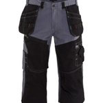 Blaklader 1601 Three Quarter Pant Shorts Grey Black