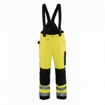 Blaklader 1689 Hi Vis Lined Shell Pants Yellow