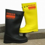 TREDS 17 inch High Over the Shoe Black Boots