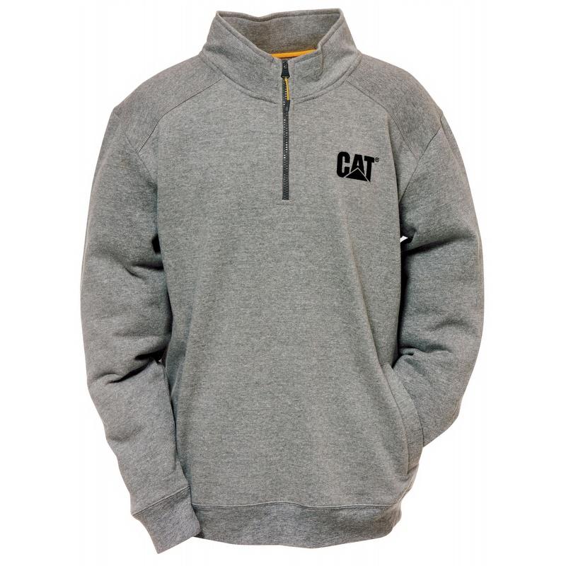Caterpillar Cat Canyon 14 Zip Sweatshirt Heather Grey