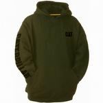 Caterpillar CAT 1910709 Trademark Banner Hooded Sweatshirt Army Moss