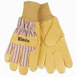 Kinco Grain Pigskin Knit Wrist Gloves