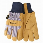 Kinco Knit Wrist Lined Grain Pigskin Gloves