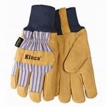 Kinco Knit Wrist Lined Grain Pigskin Gloves