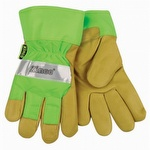 Kinco Hi-Vis Lined Pigskin Safety Cuff Gloves