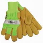 Kinco Hi-Vis Waterproof Lined Pigskin Gloves