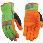 Kinco Hi-Vis Unlined Driver Easy-On Gloves