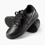 Genuine Grip 210 Women's Slip-Resistant Lace Up Wide Fit Shoe Black