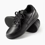 Genuine Grip 210 Women's Slip-Resistant Lace Up Wide Fit Shoe Black