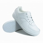 Genuine Grip 215 Women's Slip-Resistant Lace Up Wide Fit Shoe White